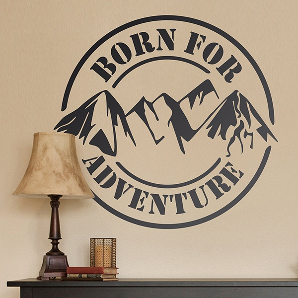Adesivi Murali: Born for Adventure