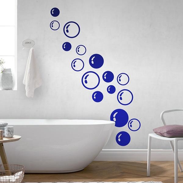 Adesivo murale bagno bolle di sapone for Stickers per mattonelle bagno