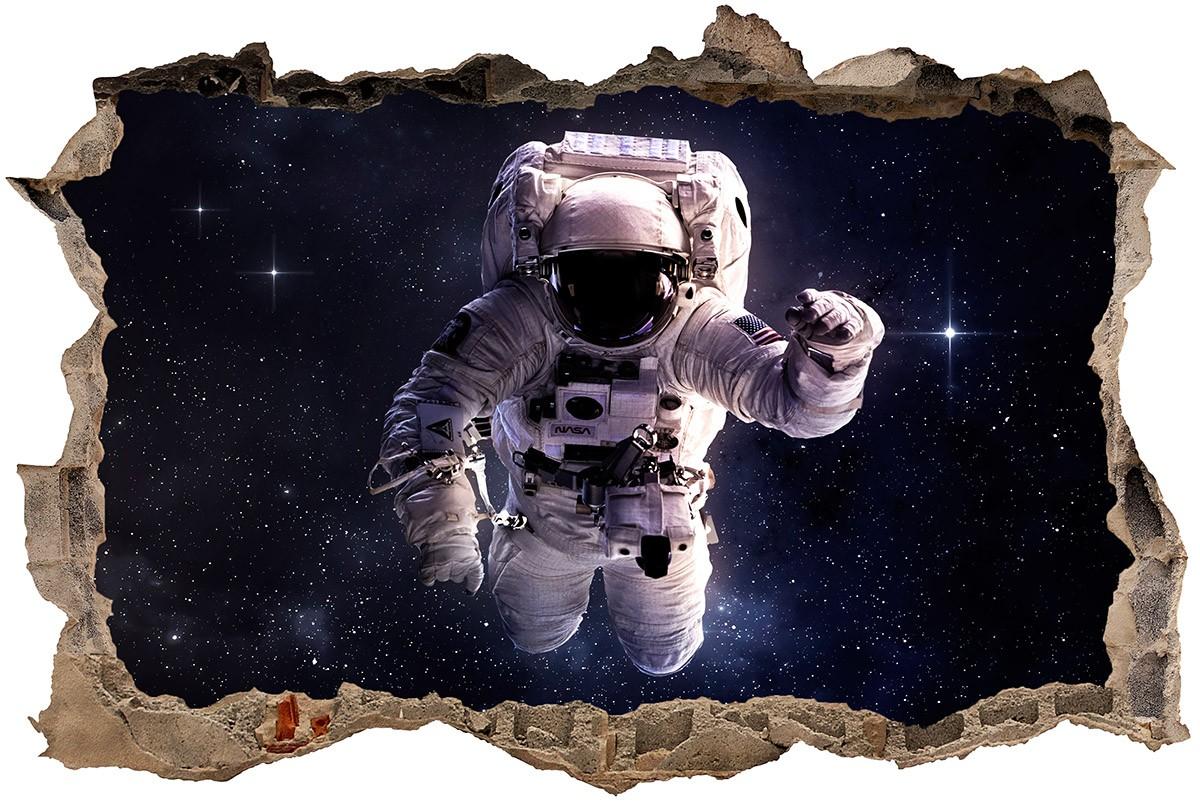 Adesivo murale trompe l'oeil astronauta.