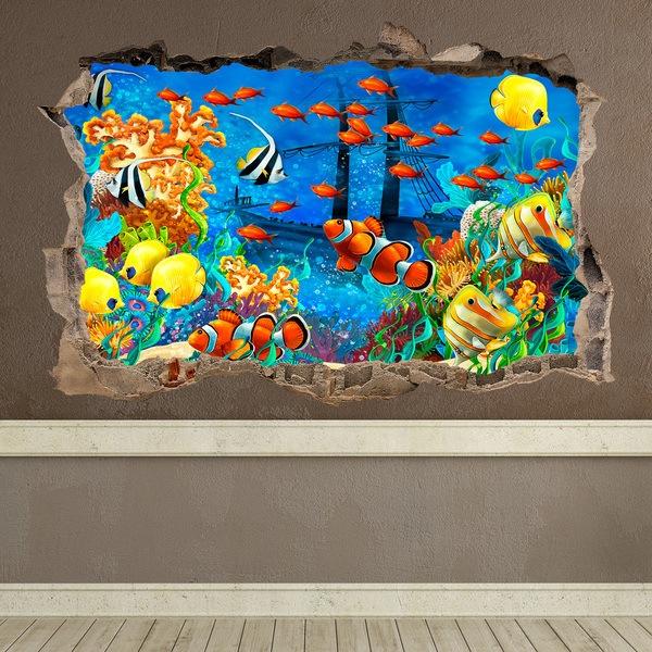Adesivi Murali Fondo Marino Per Bambini