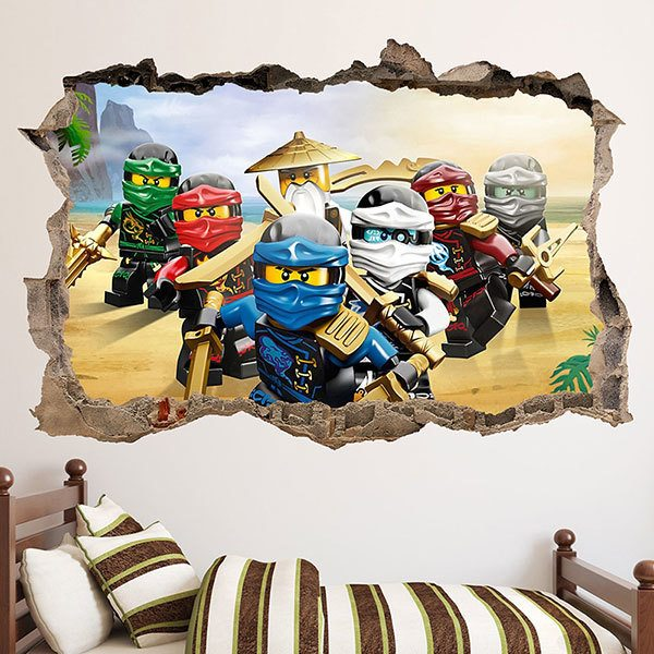 Adesivi Murali Buco nel muro LEGO NINJAGO decorazioni murali 80