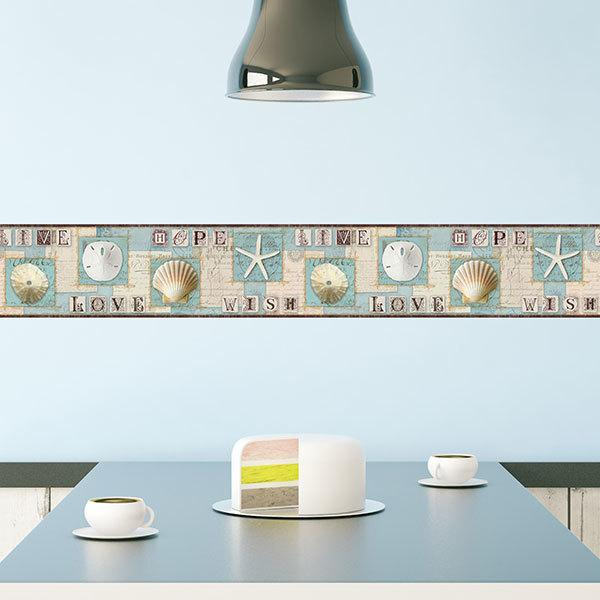 Strisce Adesive Muro.Bordi Adesivi Per Pareti Stickersmurali Com