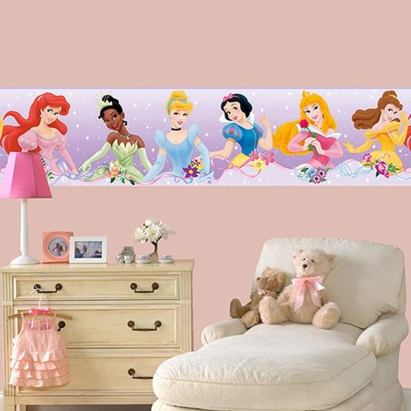 Adesivi Murali Per Bambini Disney.Bordi Adesivi Per Pareti Per Camerette Principesse Disney