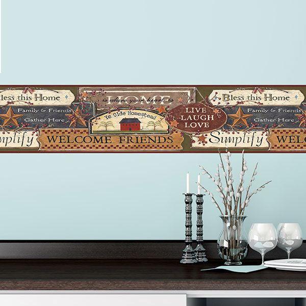 Bordi adesivi per pareti for Carta decorativa per pareti