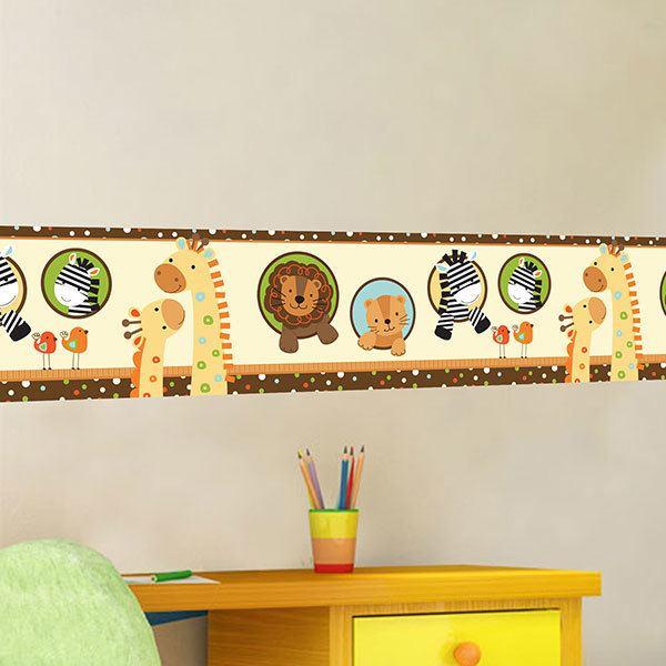 Bordo adesivo mural per bambini