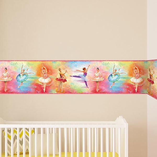 bordi adesivi per pareti per camerette balletto On bordi adesivi per pareti camerette