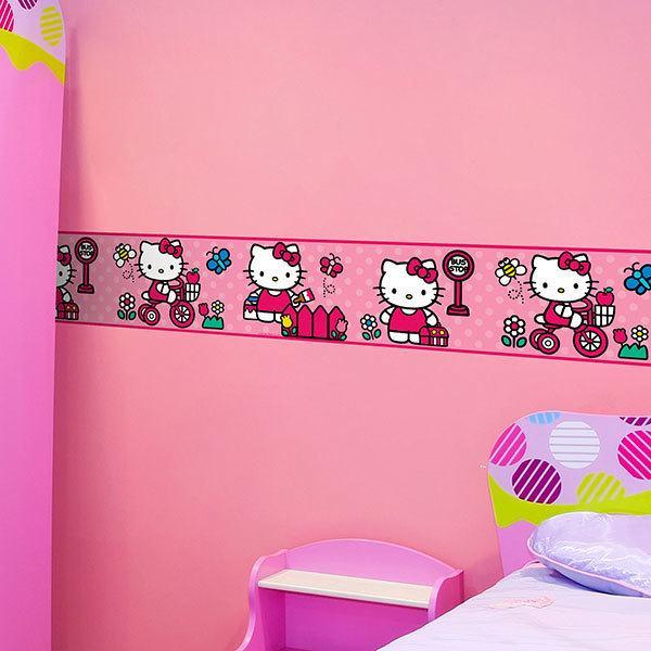Letti Per Bambini Hello Kitty.Bordi Adesivi Per Muro Per Camera Da Letto Hello Kitty