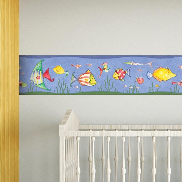 bordi adesivi per pareti per camerette pesce circo