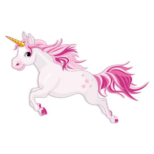 Adesivi per Bambini: Cavallo Unicorno Rosa 2