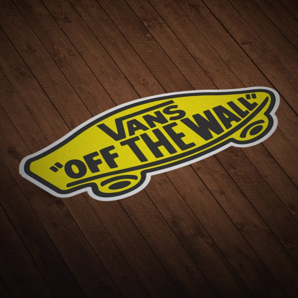 Adesivi per Auto e Moto: Vans off the wall giallo