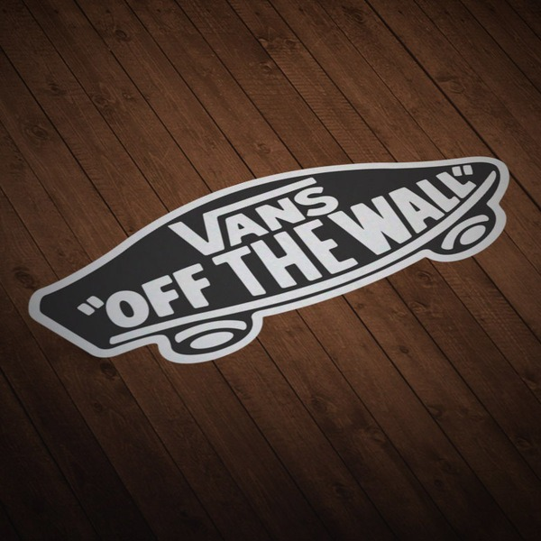 Adesivi per Auto e Moto: Vans off the wall nero