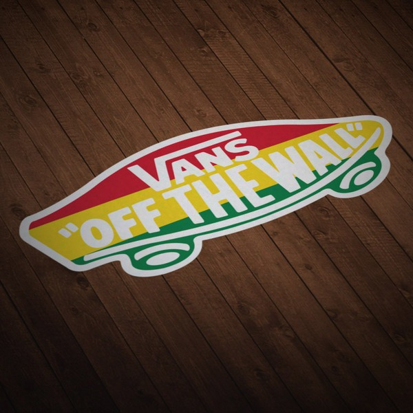 Adesivi per Auto e Moto: Vans off the wall Rastafari