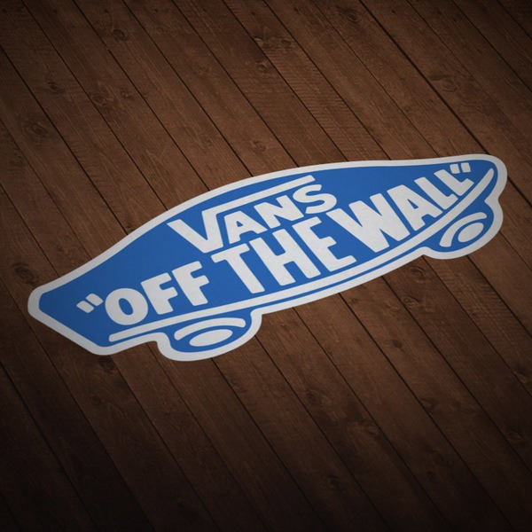 Adesivi per Auto e Moto: Vans off the wall blu