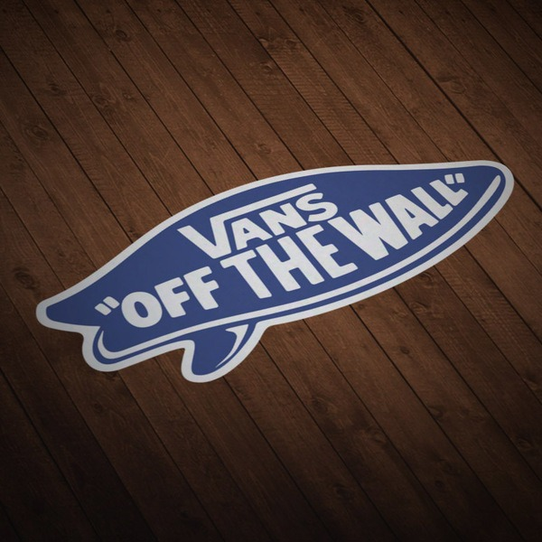 Adesivi per Auto e Moto: Vans off the wall blu surf