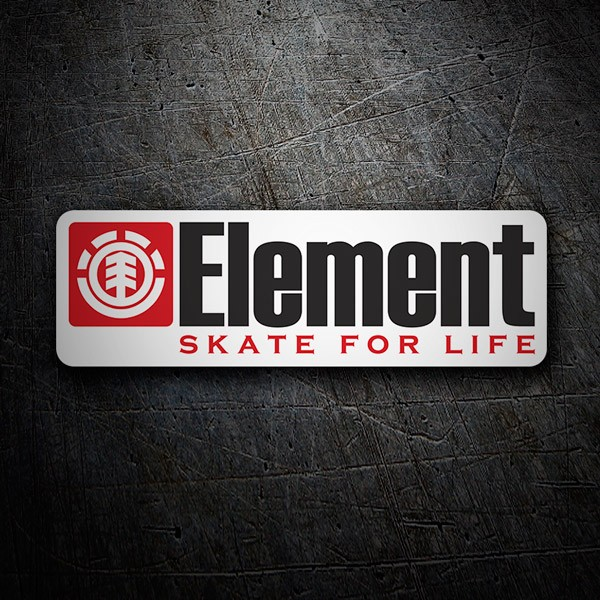 Adesivi per Auto e Moto: Element skate for life