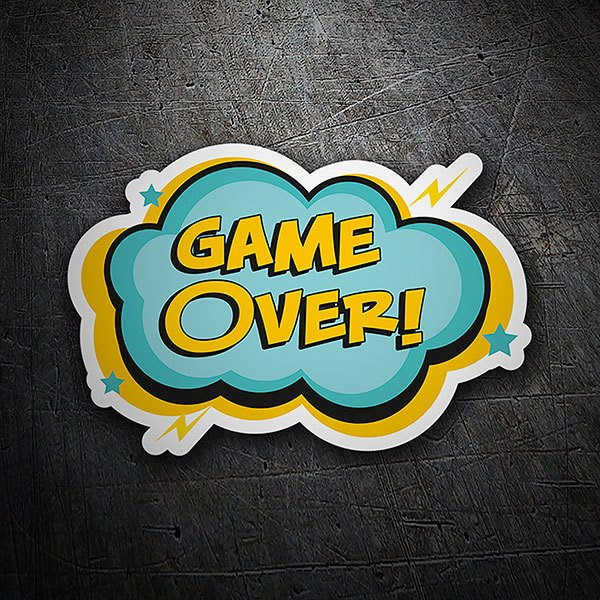 Adesivi per Auto e Moto: Game Over