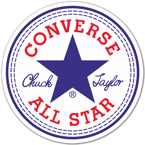 Adesivo Converse All Star Stickersmurali Com