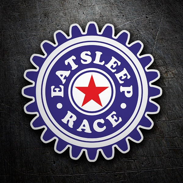 Adesivi per Auto e Moto: Eat Sleep and Race