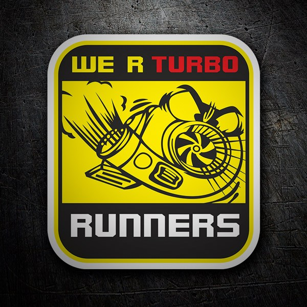 Adesivi per Auto e Moto: We are Turbo Runners