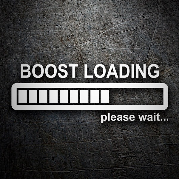 Adesivi per Auto e Moto: Boost Loading please wait