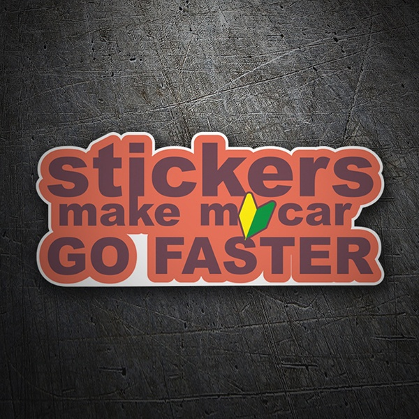 Adesivi per Auto e Moto: Stickers make my car go faster