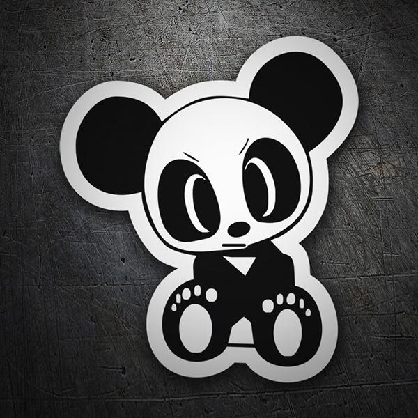adesivo orso panda arrabbiato stickersmurali com