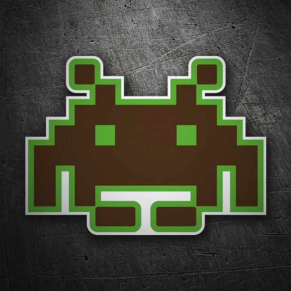 Adesivi per Auto e Moto: Space invaders 1