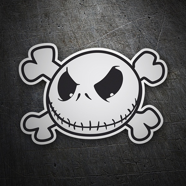 Adesivo jack skellington pirata stickersmurali