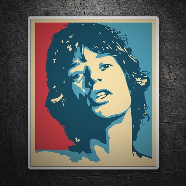 Armario Para Banheiro Feito De Caixote ~ Adesivo Mick Jagger Hope (Rolling Stones) StickersMurali com
