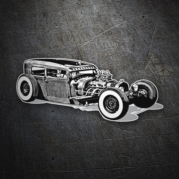 Adesivi per Auto e Moto: Hot Rod Car