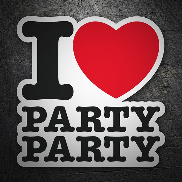 Adesivi per Auto e Moto: I love party