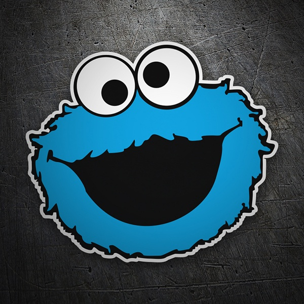 Adesivi per Auto e Moto: Cookie Monster Felice