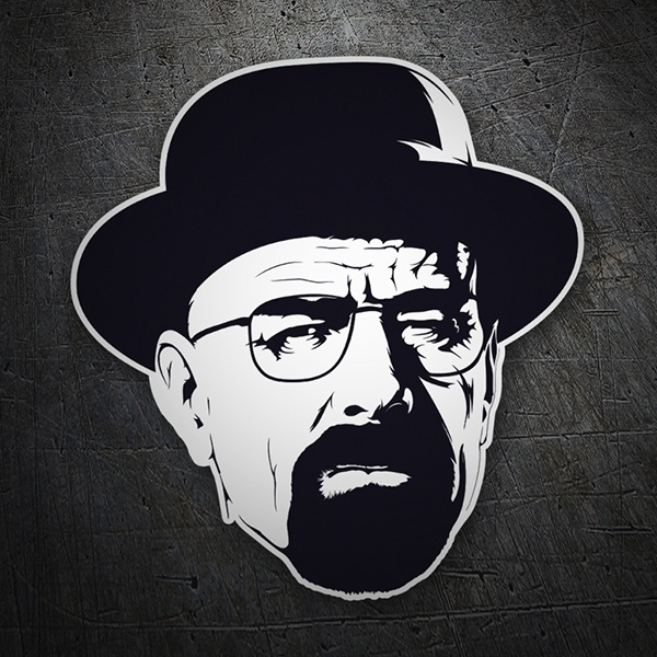 Adesivi per Auto e Moto: Breaking Bad Walter White capello