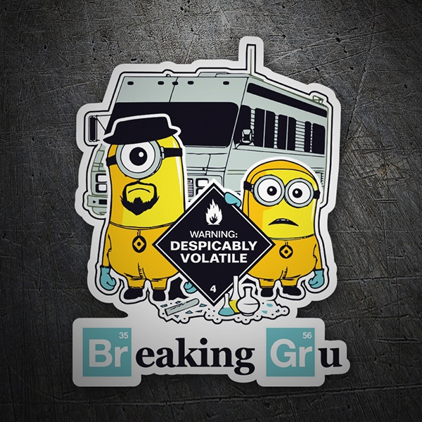 Adesivi per Auto e Moto: Breaking Bad Minion