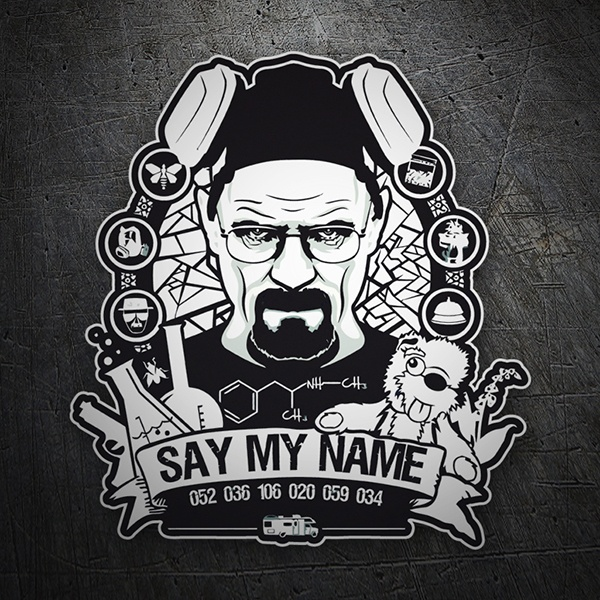Adesivi per Auto e Moto: Breaking Bad Say My Name