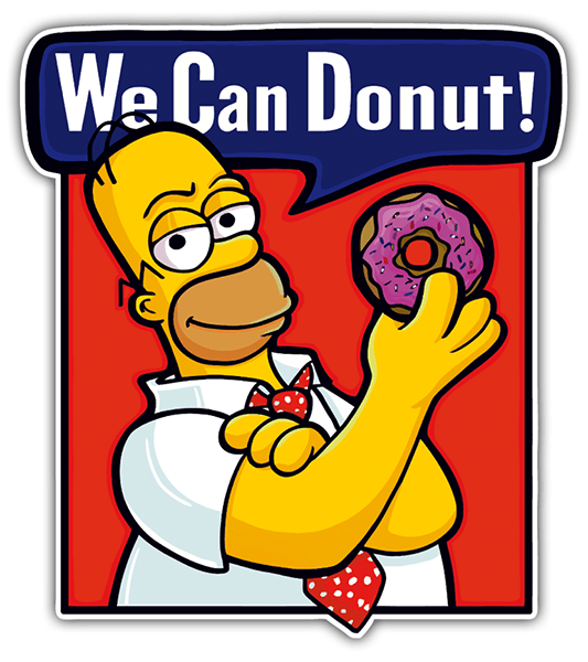 Adesivi per Auto e Moto: We can Donut