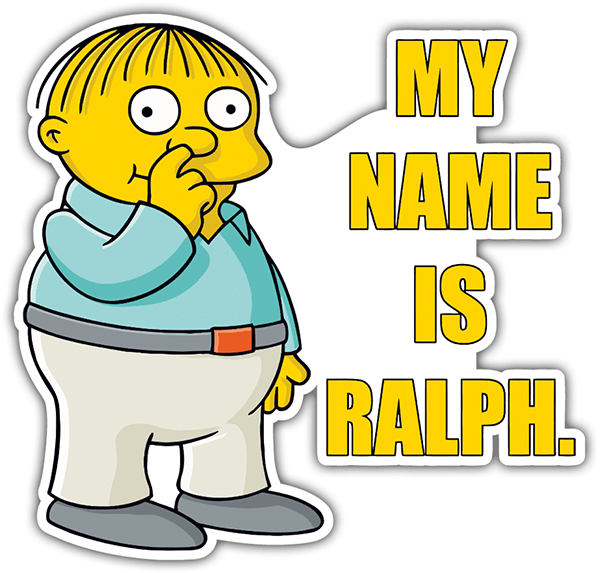 Adesivi per Auto e Moto: My Name Is Ralph