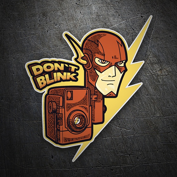 Adesivi per Auto e Moto: Flash Don't Blink 1