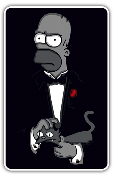 Adesivi per Auto e Moto: The Godfather Homer