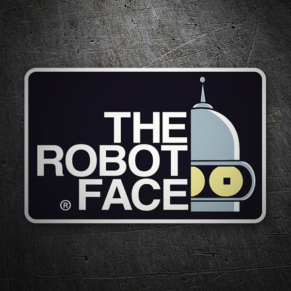 Adesivi per Auto e Moto: The Robot Face 1