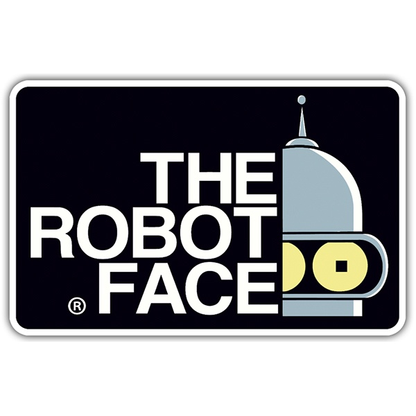 Adesivi per Auto e Moto: The Robot Face