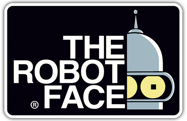 Adesivi per Auto e Moto: The Robot Face 0