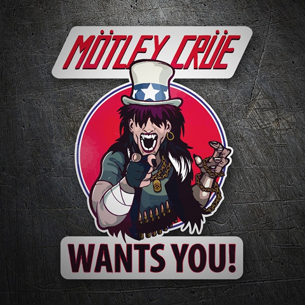 Adesivi per Auto e Moto: Mötley Crüe, Wants You?