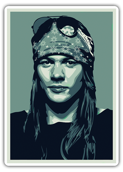 Adesivi per Auto e Moto: Axl Rose Pop Art