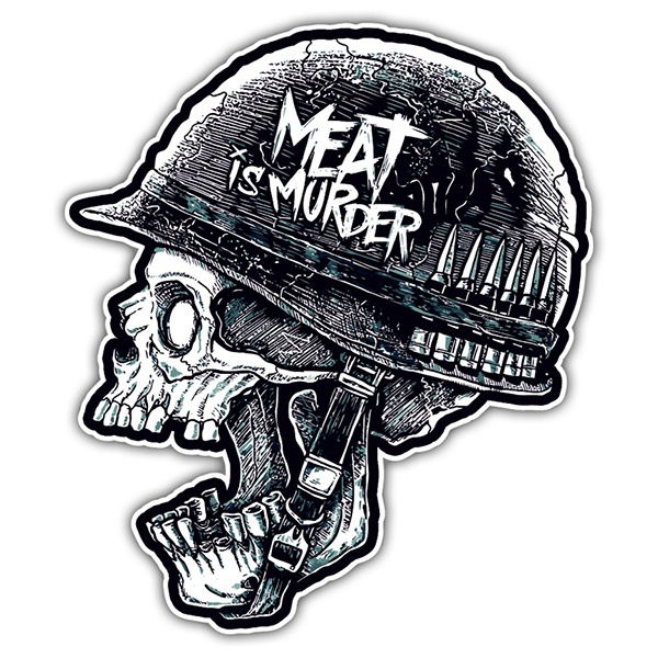 Adesivi per Auto e Moto: Meat is Murder