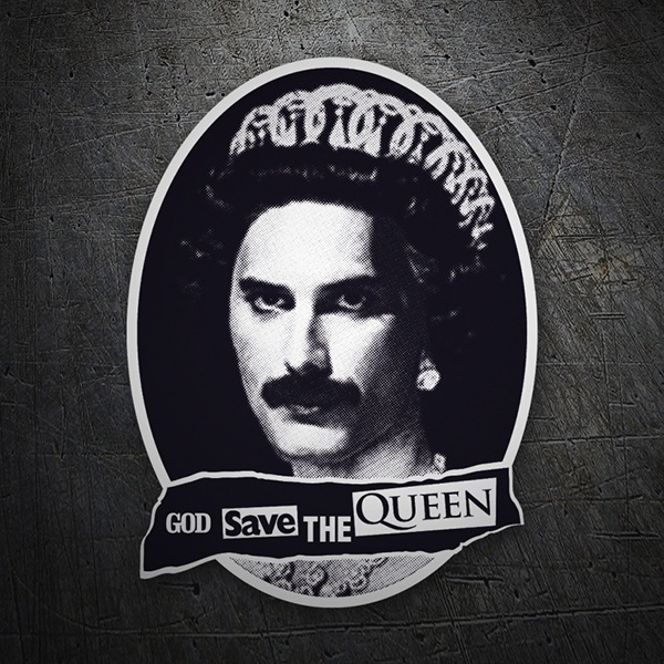 Adesivi per Auto e Moto: God save the Queen