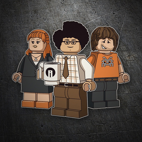 Adesivi per Auto e Moto: Lego the it crowd