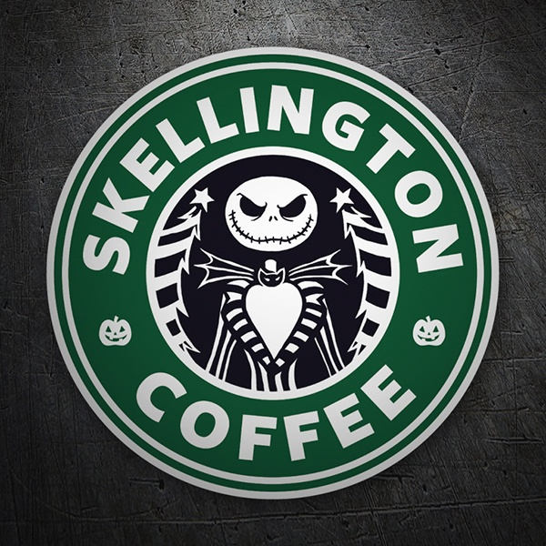 Adesivi per Auto e Moto: Skellington Coffee 1