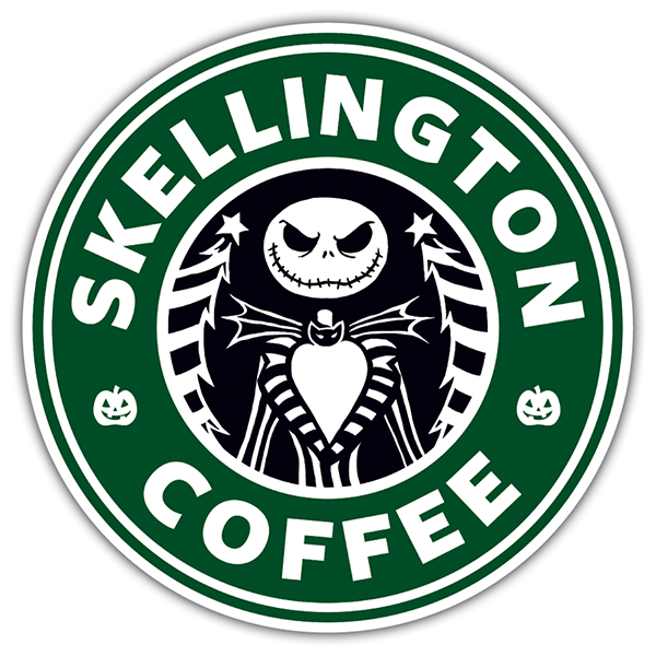Adesivi per Auto e Moto: Skellington Coffee 0