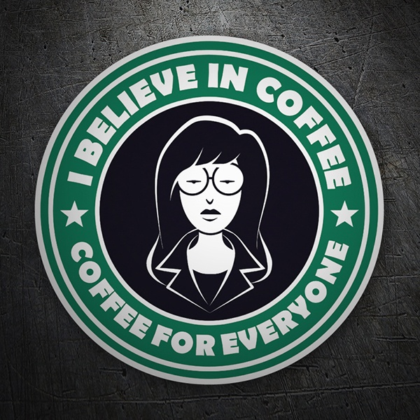 Adesivi per Auto e Moto: I believe in coffee 1